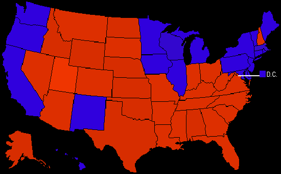 2000 Electoral Map | Ryan R. Sanderson
