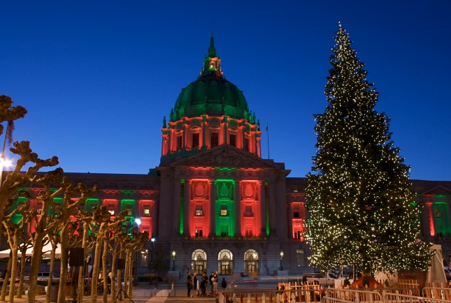 SF City Hall at Christmas Time