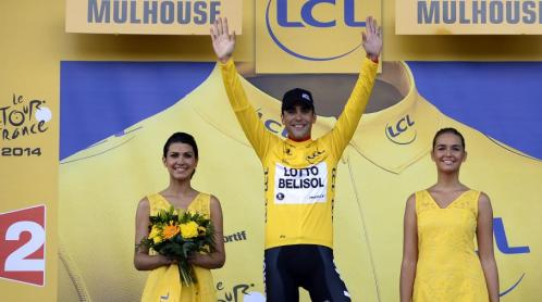 The new French leader of Le Tour de France.