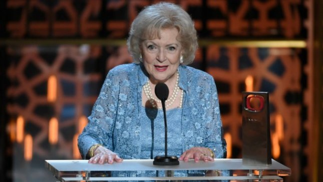 Always a pleasure it is to see the incomparable Betty White, this newest time on stage at the 2015 TV Land Awards  taped April 12 in Beverly Hills and aired April 18.  Impressively enough, the 93-year-old comedianne surpasses colleagues more than half her age in style, wit and overall energy!  Needless to say, she continues to lead by example.