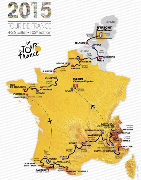 And now once again, for the 102nd time in fact, the eve has come.  The 2015 Tour de France is ready to roll tomorrow!